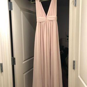 Lulu's Dresses - Beige formal dress